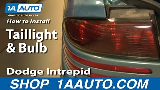How To Install Replace Change Taillight And Bulb Dodge