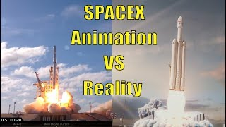SpaceX Falcon Animation VS Reality