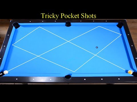 Tricky Pocket Shots - Trickshots Aiming Method Tutorial - Bilyaran - Pool & Billiard training lesson