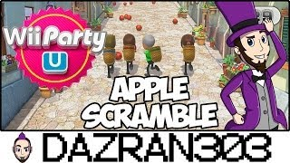 Wii PARTY U | Apple Scramble Minigame | Gameplay/Commentary Dazran303 [HD]