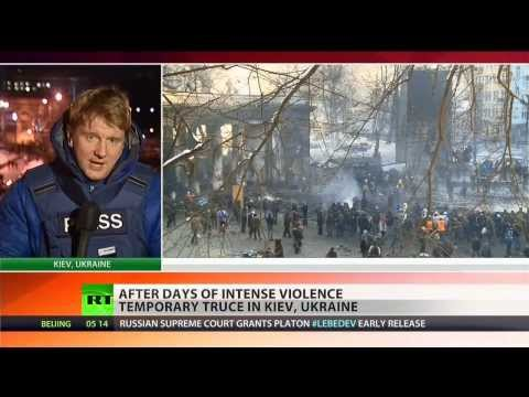 Temporary truce halts violent clashes in Ukrainian capital