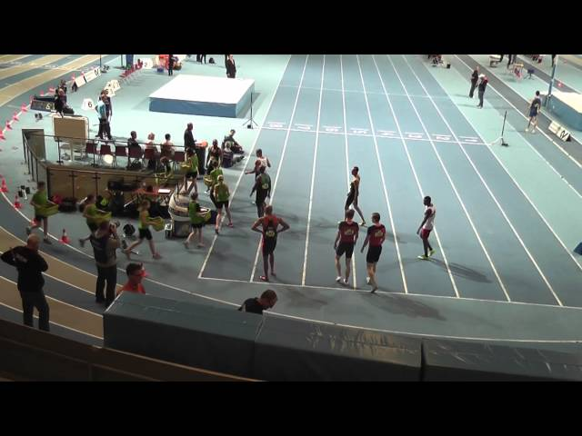Mannen 60m Sprint Series Finales & Podium NK Indoor Senioren 22/23-02-2014 1e Giovanni Codrington