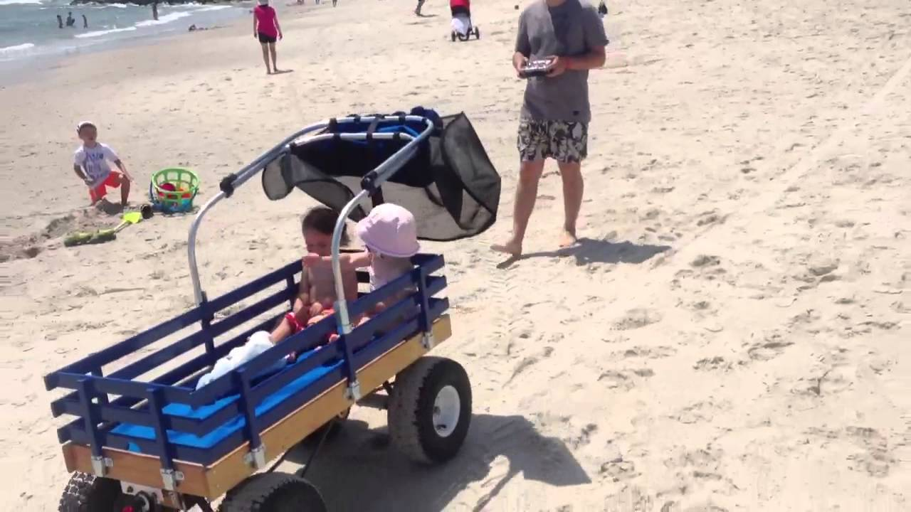 Electric beach cart RC 36 Volt - YouTube