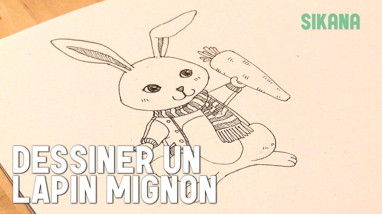 Dessin dessiner un lapin dans un style mignon hd youtube - Dessin un lapin ...