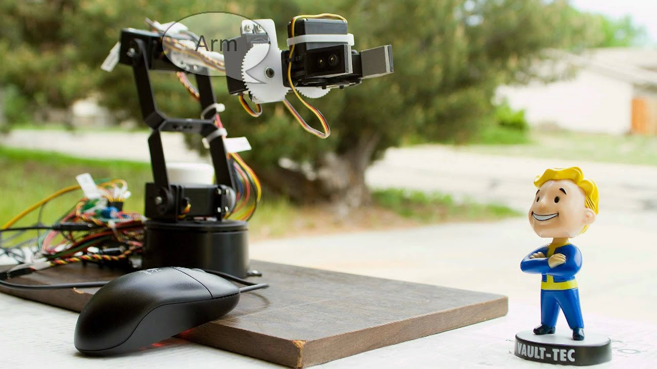 Controlling robotic arm with arduino and usb mouse youtube