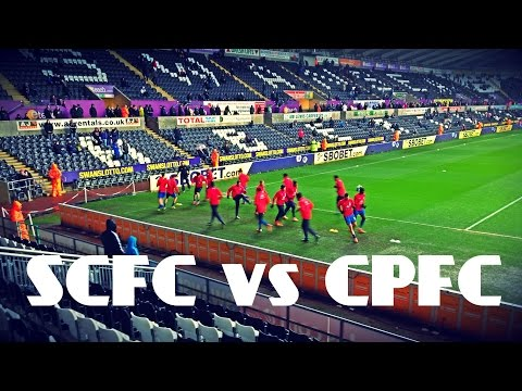 Crystal Palace fans vs Swansea City - Pride of South London chant