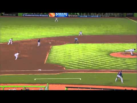 2013/08/03 Bourn scores on steal, error