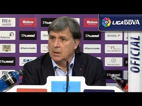 Rueda de Prensa | Press conference de Tata Martino tras el Real Valladolid (1-0) FC Barcelona - HD