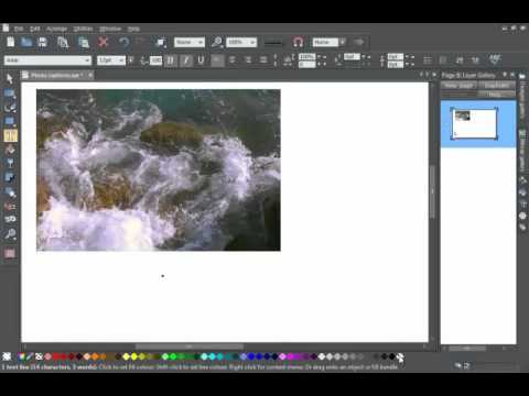Create Photo Caption in Xara Photo & Graphic Designer and Designer Pro