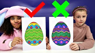 3 MARKER CHALLENGE Coloring Easter Eggs   Toys AndMe