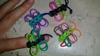 RAINBOW LOOM BUTTERFLY RING How To Make