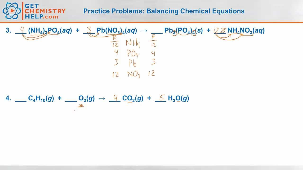 Need more help understanding balancing chemical equations?