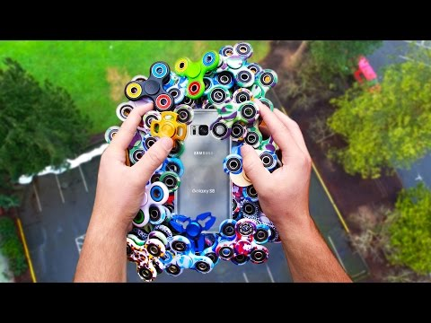 Can 1000 of Fidget Spinners Protect Galaxy S8 from 100 FT Drop Test