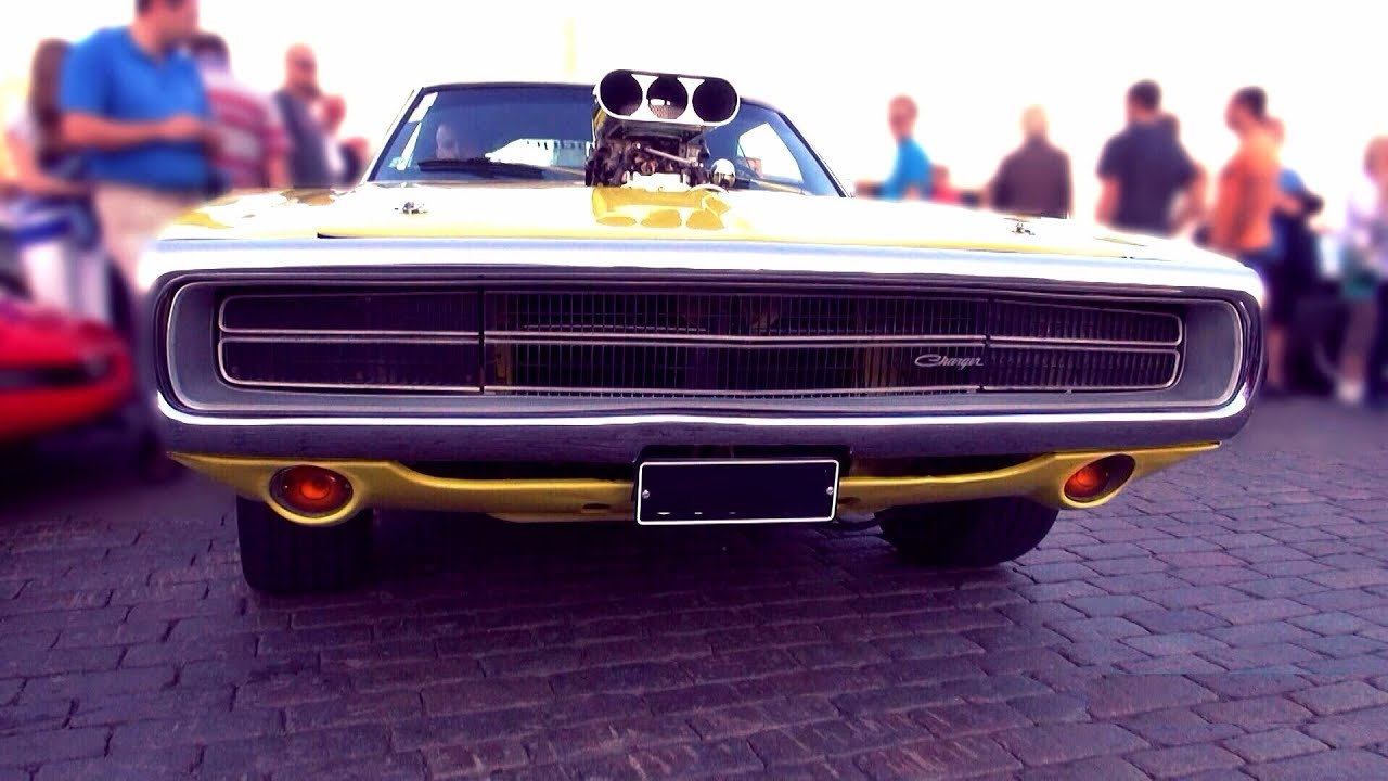 1970 Dodge Charger 500 Supercharged - loud BLOWER V8 sound ...