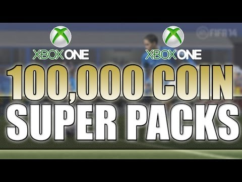 AMAZING 100,000 COIN SUPER PACKS - CONTAINING IN FORMS! FIFA 14 ULTIMATE TEAM on Xbox One