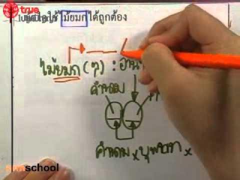 ข้อสอบจริงภาษาไทยคัดเลือกเข้า ม 1