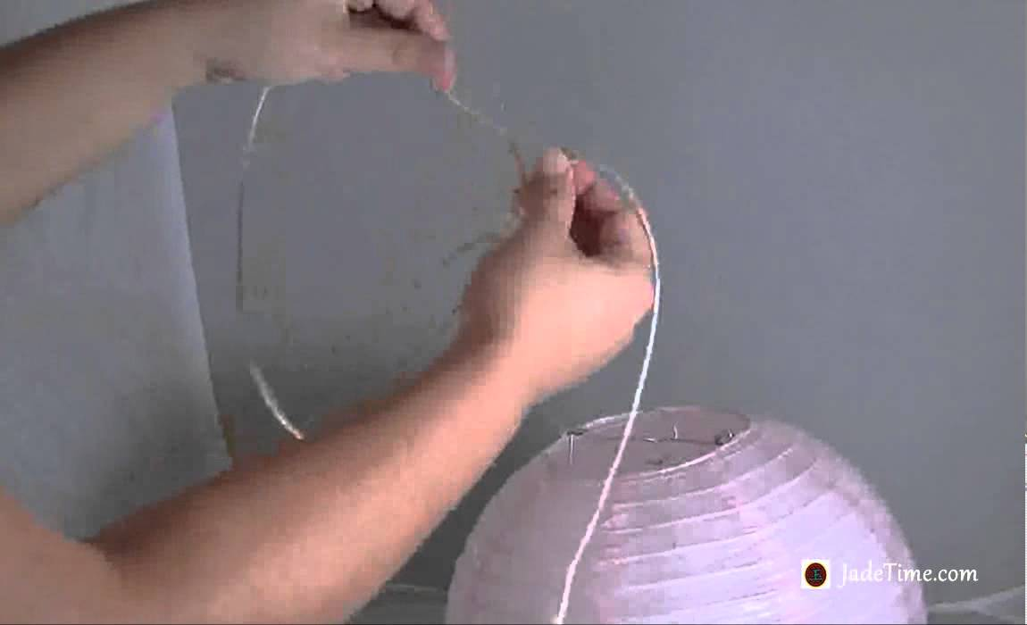 How To Hang Paper Lanterns Youtube