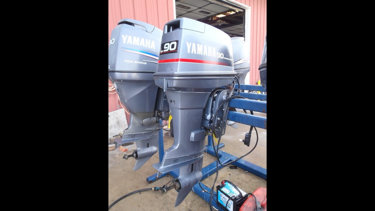 6h1l 474562 used 1990 yamaha 90etld 90hp 2 stroke outboard for 2 stroke boat motors