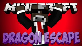"Minecraft ""RUN FROM THE DRAGON!"" DRAGON ESCAPE Minigame"