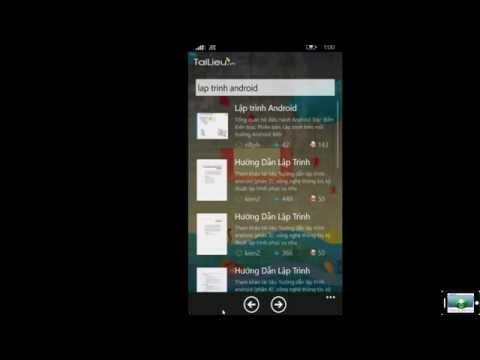 Phầm mềm download tài liệu miễn phí từ website Tailieu.vn cho điện thoại.