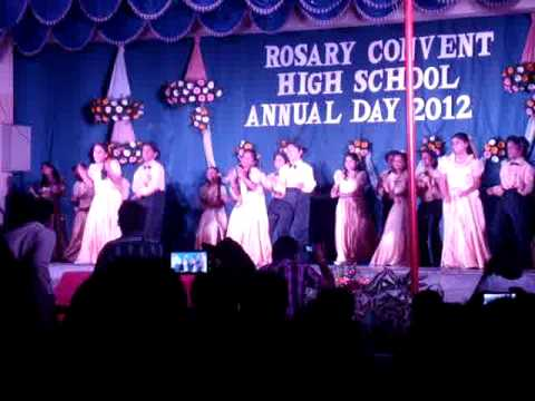 Rosary Convent  School Hyderabad Annual Day 2012 Western Dance Part2(Shalala)