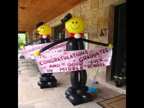 Balloon decoration ideas for graduation youtube for Balloon decoration ideas youtube