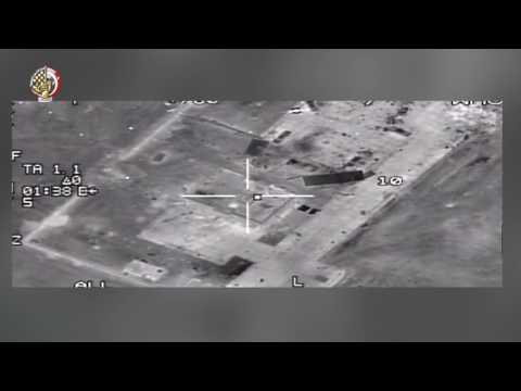 الجيش المصري ينشر مشاهد عمليته الجوية ضد المتطرفين في ليبيا