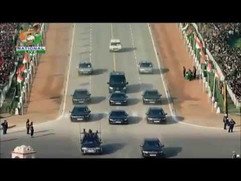 Indian Republic day 2013- Prime Minister's,President's and Vice President's motorcades