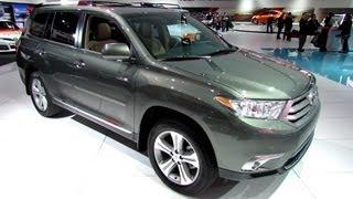 2013 Toyota Highlander Limited - Exterior and Interior Walkaround - 2013 Detroit Auto Show videos