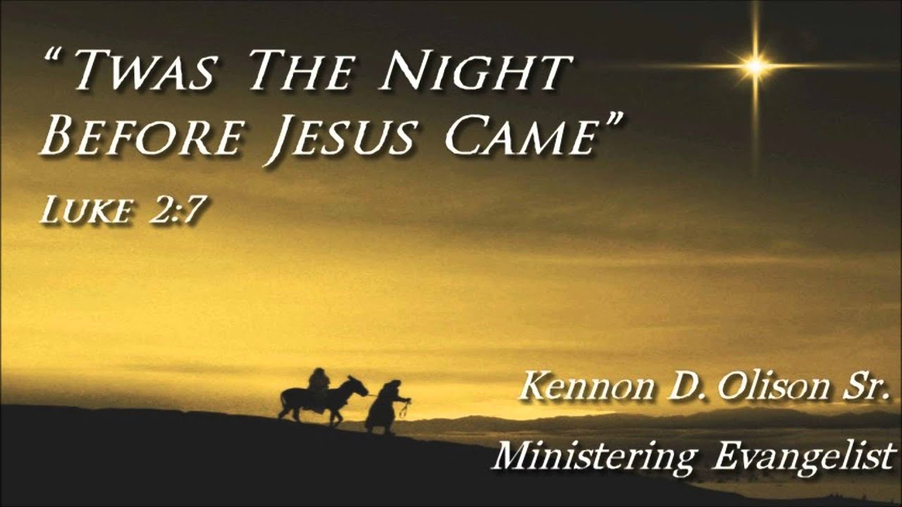 It is an image of Universal Twas the Night Before Jesus Came Printable