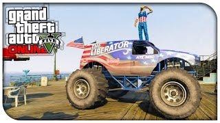 """GTA 5 Online """"The Liberator"""" Monster Truck Showcase"""