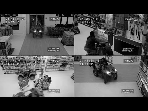 4 Men Drive ATV's Through A Store On Black Friday