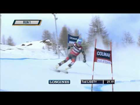 Ligety DNF Run 1 Val d'Isere - US Ski Team