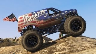 GTA 5 Off-Road 4x4 Mountain Climbing In The Monster