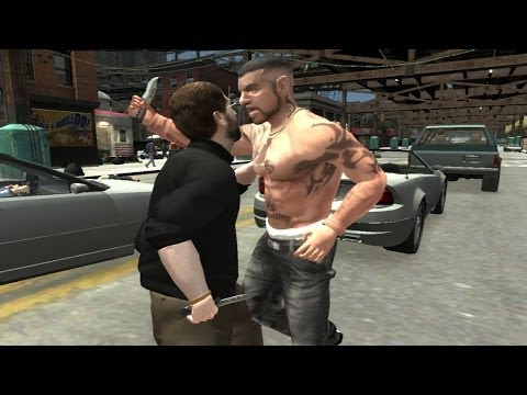 GRAND THEFT AUTO IV: NY Gangster + CombatKnife