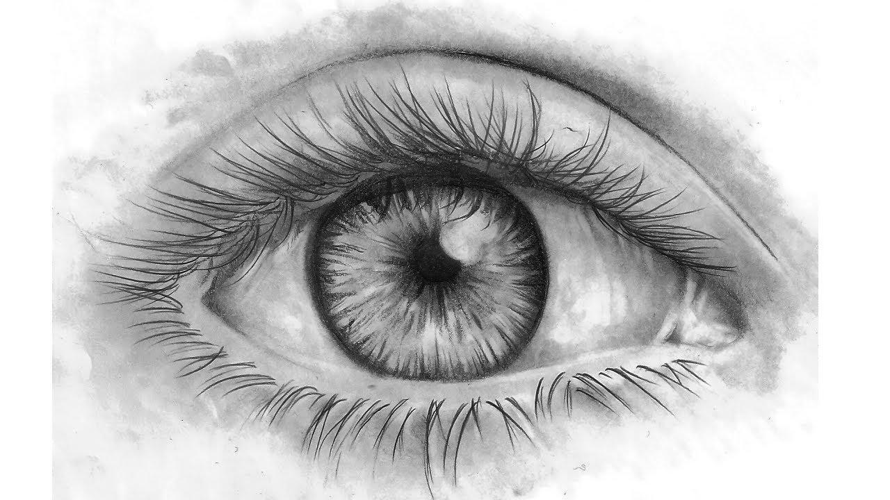 How to draw eyes come disegnare un occhio youtube for Disegni natalizi facili da disegnare