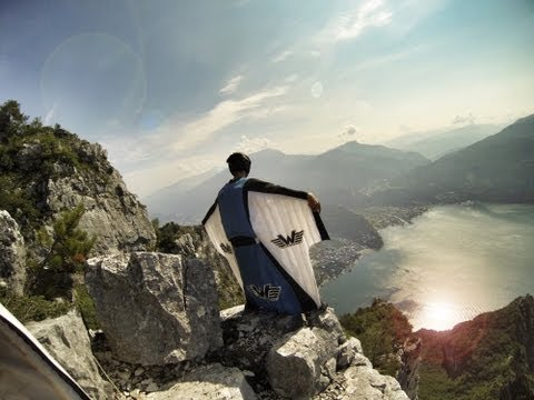 Crazy Wingsuit Flight -- Man Lands on Water Without Parachute (WORLD'S FIRST)