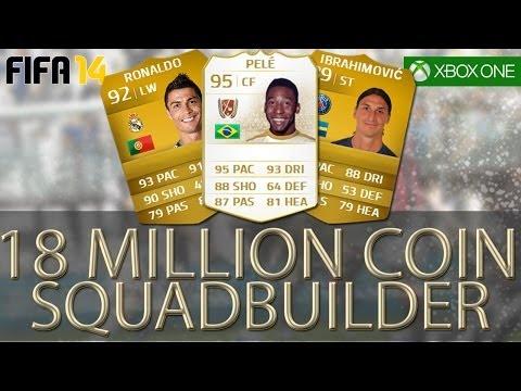 PELE, RONALDO + IBRAHIMOVIC 18 MILLION COIN SQUADBUILDER - FIFA 14