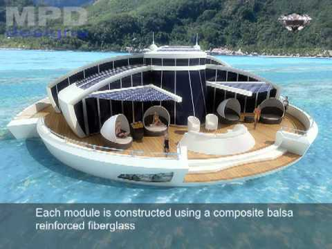 Solar Floating Island concept by MPD Designs