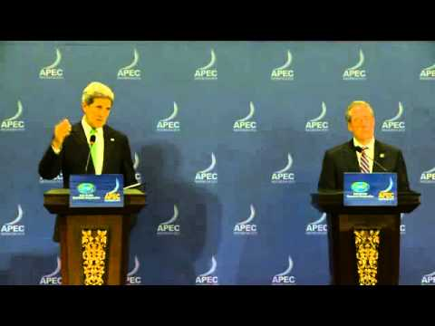 Secretary Kerry and Ambassador Froman Speak to the Press at the APEC Ministerial in Indonesia
