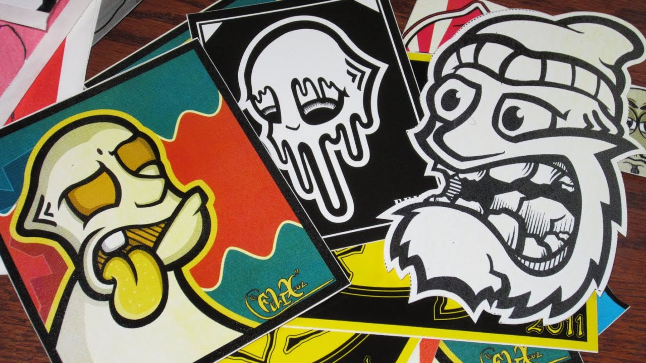 Felix Graffiti Sticker Trade - YouTube