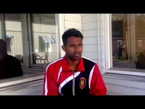 Interview with striker Mathanraj Uthayanan after the Kurdistan match