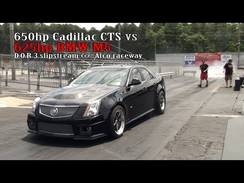 650hp Cadillac CTS-V  vs 625hp BMW M5