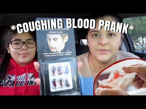 COUGHING UP BLOOD PRANK ON BOYFRIEND *FUNNY*