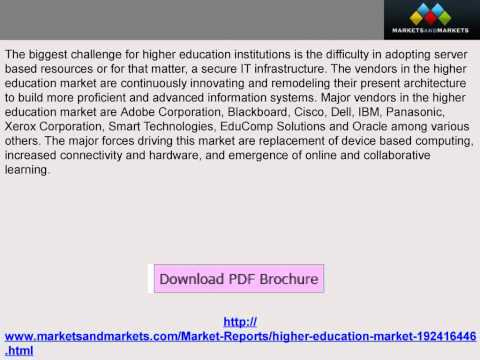 Higher Education Market Forecasts & Analysis (2014-2019) - YouTube