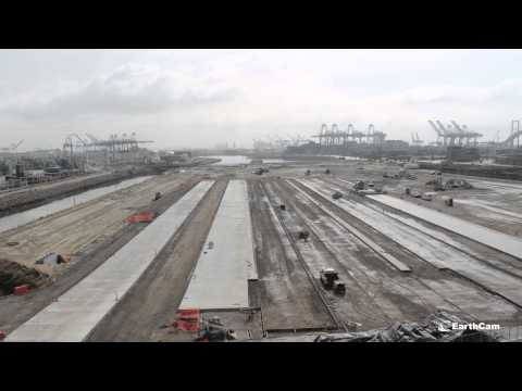 Sully-Miller Port of Los Angeles Berth 102 Rear Backland Development 1 Timelapse