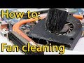 Lenovo G570 (G575) fan cleaning, чистка ноутбука