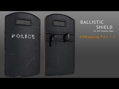 Tutorial: Ballistic Shield in 3D Studio Max - Part 2-2 (reupload)
