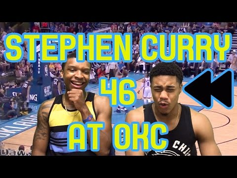 HALF COURT GAME WINNER OMFG! STEPH CURRY 12 THREES AT OKC!! FULL HIGHLIGHTS AND REACTION! FLASHBACK!