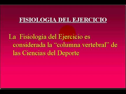 FISIOLOGIA DEL EJERCICIO 2009 - 2